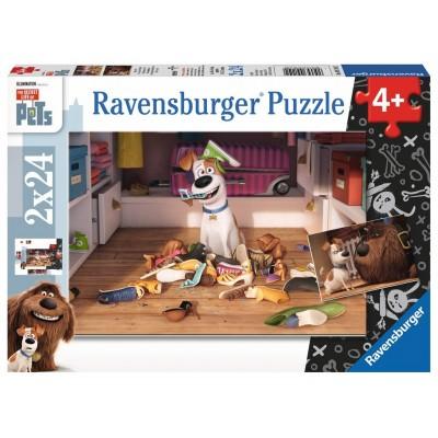 Ravensburger-09110 2 Puzzles - The Secret Life of Pets
