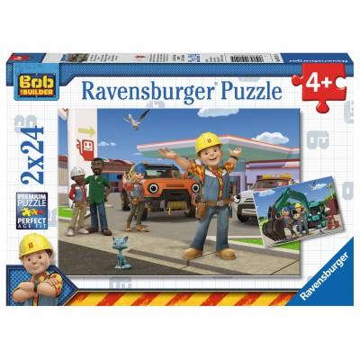 Ravensburger-09151 2 Puzzles - Bob und sein Team
