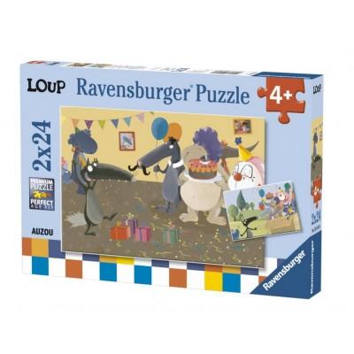 Ravensburger-09158 2 Puzzles - Loup
