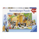 Ravensburger-09192 2 Puzzles - Müllfahrzeuge