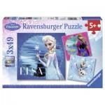 Ravensburger-09269 3 Puzzles - Die Eiskönigin