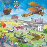 Ravensburger-09273 3 Puzzles - Unterwegs