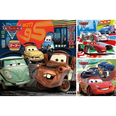 Ravensburger-09281 Puzzle 3 x 49 Teile - Cars 2: Weltweiter Rennspaß