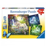 Ravensburger-09291 3 Puzzles - Schöne Einhörner
