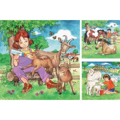 Ravensburger-09351 3 Puzzles - Meine Lieblingstiere