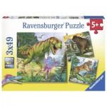 Ravensburger-09358 3 Puzzles - Herrscher der Urzeit