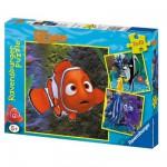 Puzzle  Ravensburger-09371 Findet Nemo: Im Aquarium