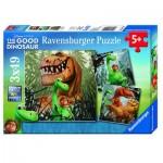 Ravensburger-09410 3 Puzzles - Arlo und Spot