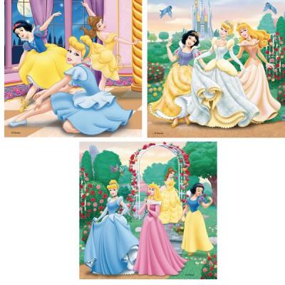 Ravensburger-09411 3 Puzzles - Träumende Prinzessinnen