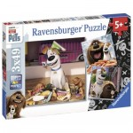 Ravensburger-09413 3 Puzzles - The Secret Life of Pets