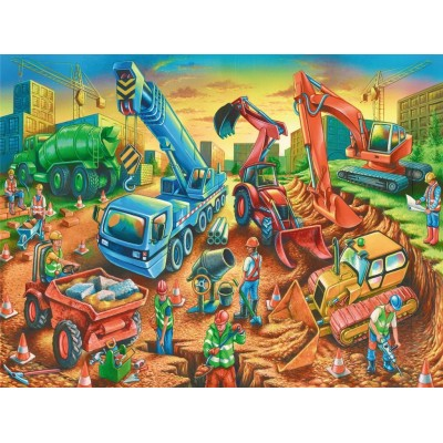 Puzzle  Ravensburger-09517 Bauarbeiter