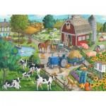 Puzzle  Ravensburger-09640 Auf dem Hof