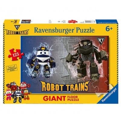 Ravensburger-09787 Riesen-Bodenpuzzle -  Robot Trains