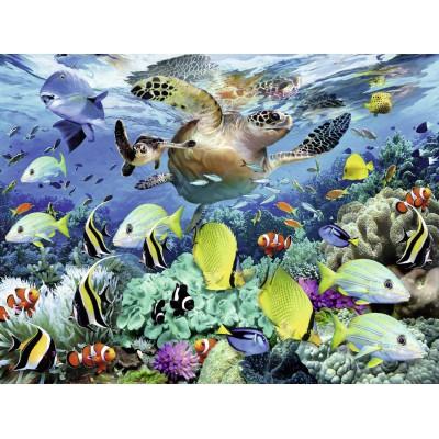 Puzzle  Ravensburger-10009 Unterwasserwelt