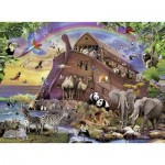 Puzzle  Ravensburger-10038 XXL Teile - Unterwegs mit der Arche