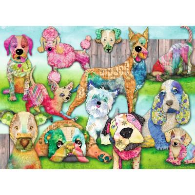 Puzzle  Ravensburger-10041 XXL Teile - Patchwork Pups