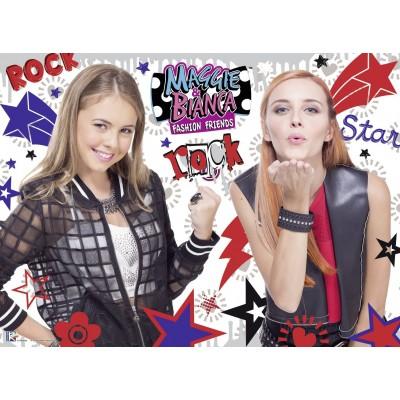 Puzzle  Ravensburger-10048 XXL Teile - Maggie & Bianca - Fashion Friends