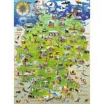 Puzzle  Ravensburger-10049 XXL Teile - Meine Deutschlandkarte