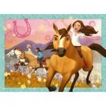 Puzzle  Ravensburger-10055 XXL Teile - Dreamworks - Spirit Riding Free