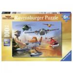 Puzzle  Ravensburger-10537 XXL Teile - Disney Planes: Im Kampf gegen das Feuer