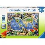 Puzzle  Ravensburger-10540 Tierisch um die Welt