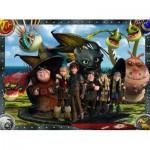 Puzzle  Ravensburger-10549 Dragons: Ohnezahn und seine Freunde