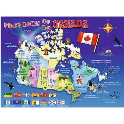 Puzzle  Ravensburger-10569 Karte von Kanada