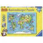 Puzzle  Ravensburger-10595 XXL Teile - Reise um die Welt