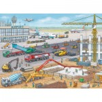 Puzzle  Ravensburger-10624 Baustelle am Flughafen