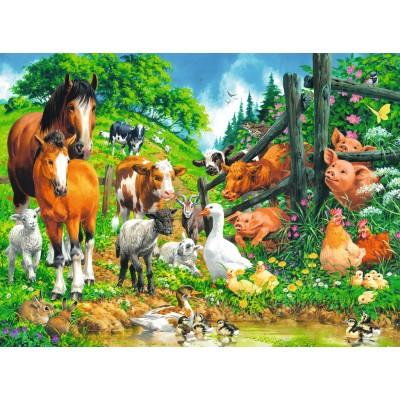 Puzzle  Ravensburger-10689 XXL Teile - Versammlung der Tiere