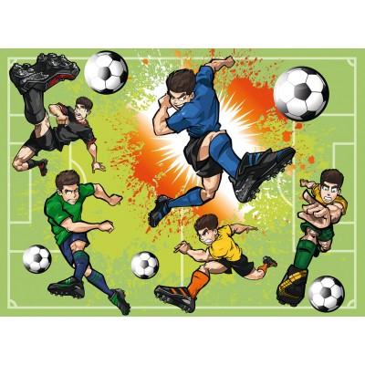 Puzzle  Ravensburger-10693 XXL Teile - Im Fußballfieber