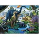 Puzzle  Ravensburger-10740 Im Land der Riesen: Dinosaurier