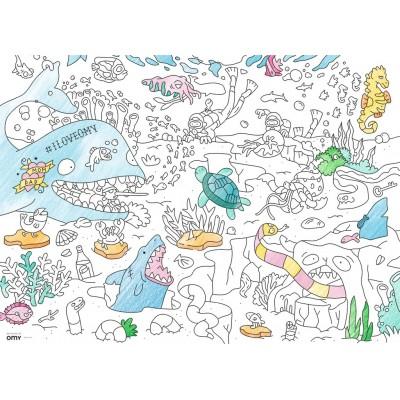 Ravensburger-10752 Color Puzzle - Die Welt unter Wasser