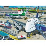 Puzzle  Ravensburger-10763 XXL Teile - Flughafen