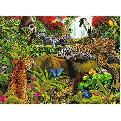 Puzzle  Ravensburger-10781 XXL Teile - Wilder Dschungel