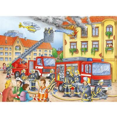 Puzzle Ravensburger-10822 Unsere Feuerwehr