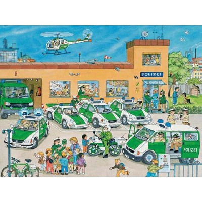 Ravensburger-10867 Puzzle 100 Teile XXL - Polizei