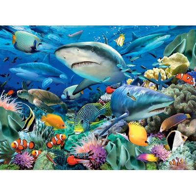 Puzzle Ravensburger-10951 XXL Teile - Riff der Haie