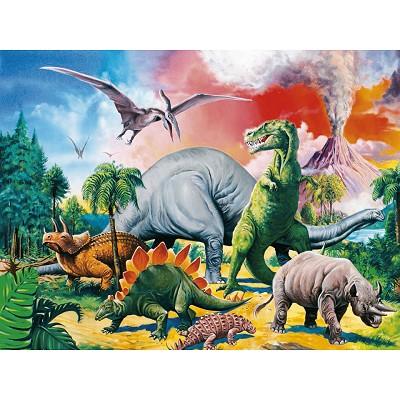 Ravensburger-10957 XXL Puzzleteile - Unter Dinosauriern