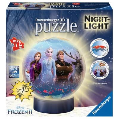 Ravensburger-11141 3D Puzzle mit LED - Frozen II