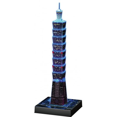 Ravensburger-11149 3D Puzzle Night Edition - Taipei