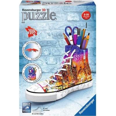 Ravensburger-11152 3D Puzzle - Sneaker - Skyline