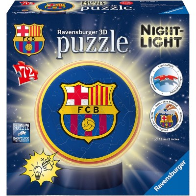 Ravensburger-11166 3D Puzzle Ball - FC Barcelona