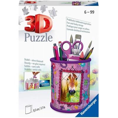 Ravensburger-11175 3D Puzzle - Utensilo - Pferde