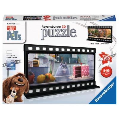 Ravensburger-11212 3D Puzzle - The Secret Life of Pets