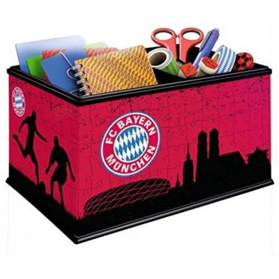 Ravensburger-11216 3D Puzzle - Aufbewahrungsbox: FC Bayern