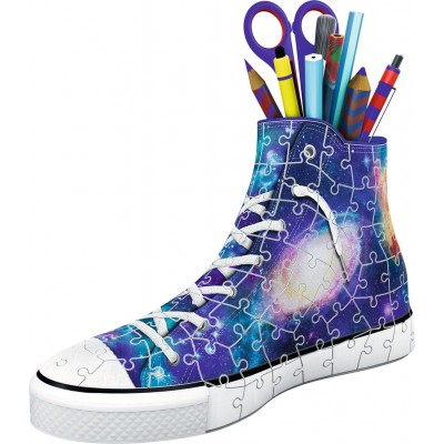 Ravensburger-11219 3D Puzzle - Sneaker - Galaxy Design