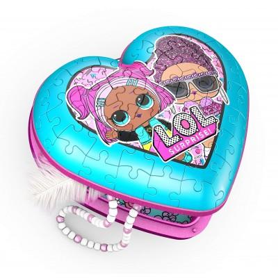 Ravensburger-11233 3D Puzzle - Heart Box - Lol Surprise