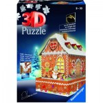 Ravensburger-11237 3D Puzzle mit LED - Lebkuchenhaus