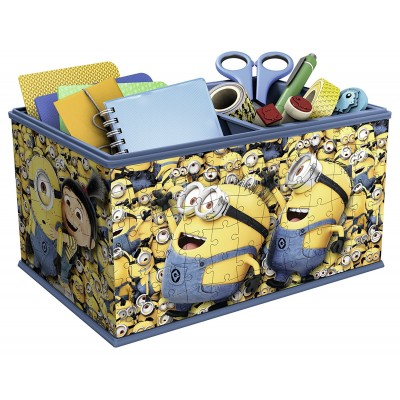 Ravensburger-11260 3D Puzzle - Aufbewahrungsbox: Minions